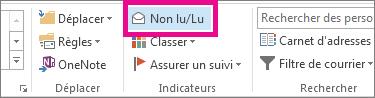 Sous l'onglet Accueil, cliquez sur Non lu/Lu