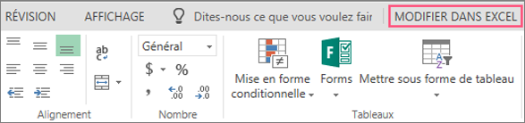 Bouton de modification dans Excel