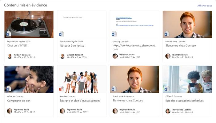 Exemple de contenu mis en surbrillance sur une page