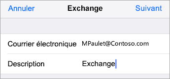 Connexion à Exchange