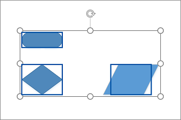Regroupement de formes