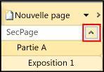 Groupe de pages affichant le bouton Développer/Réduire
