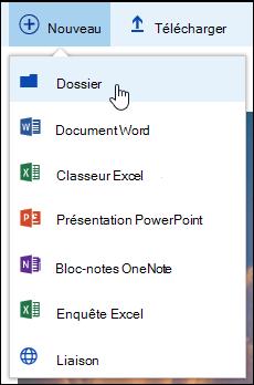 Nouveau dossier de bibliothèque de documents