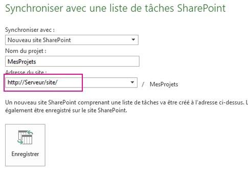 Image Synchroniser sur un nouveau site SharePoint