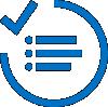 Icône représentant une liste de vérification