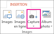 Groupe Illustrations dans PowerPoint