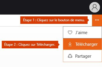 Option du menu de téléchargement de Docs.com