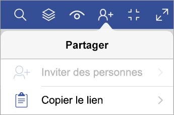 Copier un lien dans Visio Viewer pour iPad