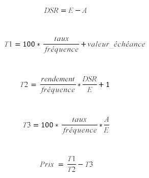 Fonction PRIX.TITRE lorsque N <= 1