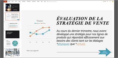 Diapositive avec liens hypertexte mis en forme dans différentes couleurs