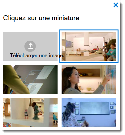 Office 365 Vidéo choisir une miniature