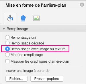 PowerPoint pour Mac - Mise en forme de l'arrière-plan