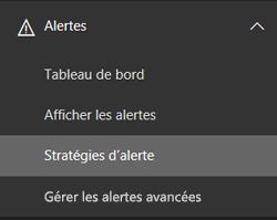 Navigation des alertes