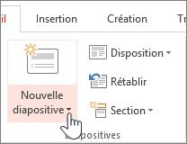 Bouton Nouvelle diapositive