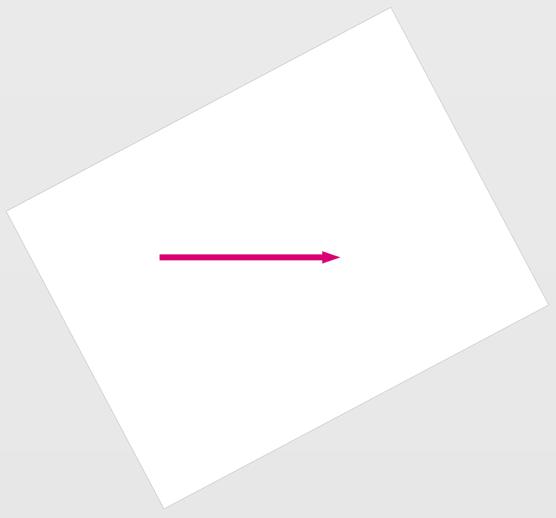 Une page Visio qui a été pivotée de telle sorte que la ligne Askew soit désormais parfaitement horizontale.