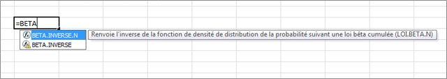 Exemple de saisie automatique de formule