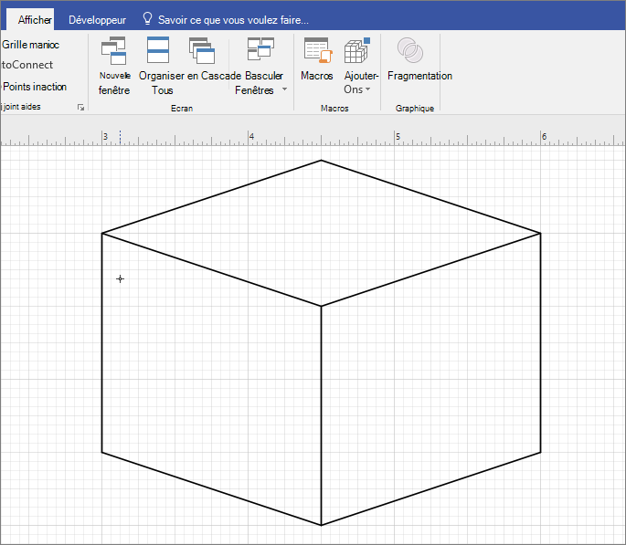 Dessiner la forme manuellement à l'aide de l'outil de ligne.