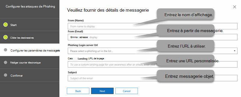 Configurer les paramètres de messagerie