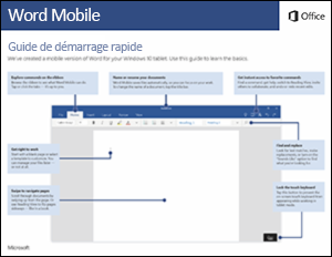 Guide de démarrage rapide de WordMobile