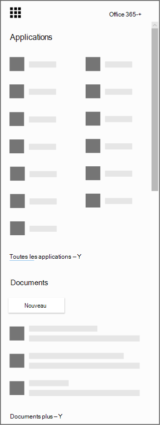 Lanceur d'applications Office 365