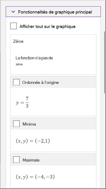Écrire une équation mathématique dans OneNote pour Windows10