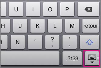 Masquer le clavier