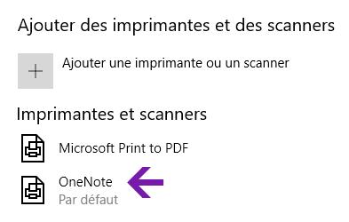 Menu de sélection d'emplacement du bloc-notes dans OneNote pour Windows 10