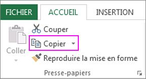 commande copier