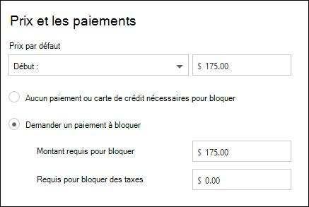 Capture d'écran: illustrant paiement requis pour le service