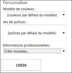 Options de modèle de carte postale pour modèles provenant de Office.com.