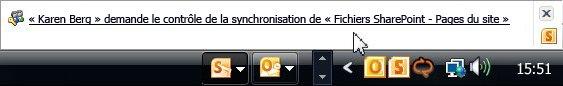 Demande de contrôle de la synchronisation
