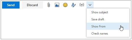 Option afficher à partir du menu plus de commandes