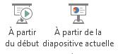 Vous pouvez démarrer un diaporama à partir du début ou de la diapositive actuelle