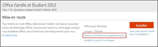 Utiliser le programme d installation hors connexion d - Installer office famille et etudiant 2013 ...