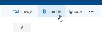 Capture d'écran du bouton Joindre.