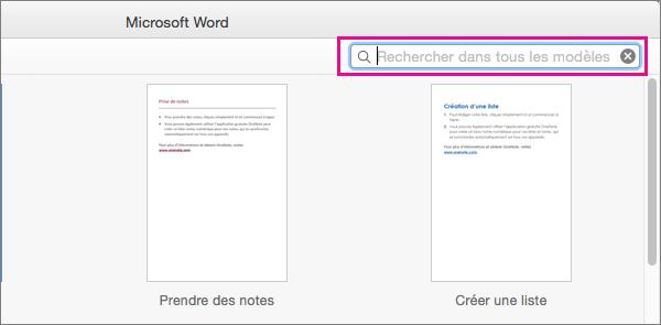 Entrez des mots-clés dans la zone de recherche pour rechercher les modèles associés.