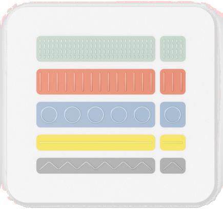 Carte avec étiquettes de port incluses dans le Kit adaptatif pour Surface.