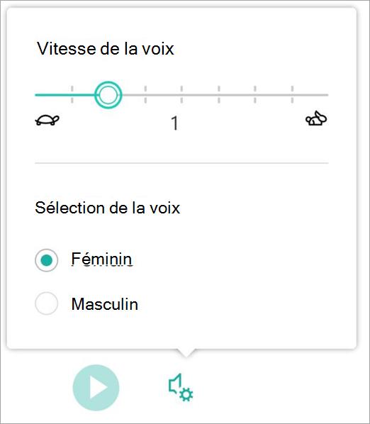 Vitesse de voix du lecteur immersif et sexe