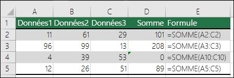Excel affiche une erreur lorsqu'une formule ne correspond pas au modèle des formules adjacentes