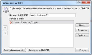 Créer un package de présentation pour CD-ROM