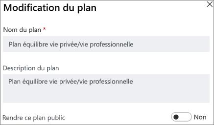 Capture d'écran de la boîte de dialogue plan montrant que ce contrôle public plan.