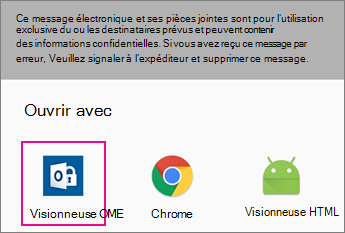 Visionneuse OME avec Gmail sur Android 2