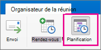 Office2016 pour Mac - Bouton Planification