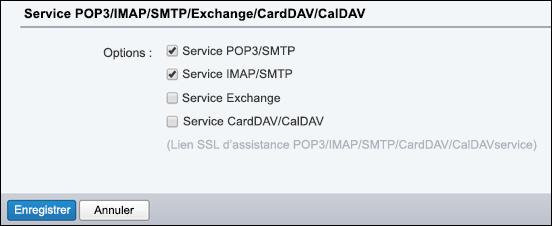 Sélectionnez POP3/SMTP et IMAP/SMTP.