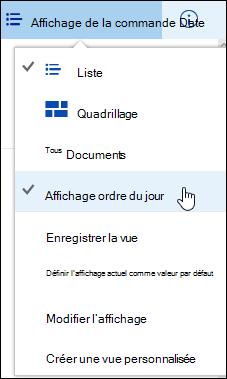 Enregistré affichage bibliothèque de documents personnalisés dans Office 365