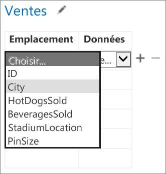 Sélection des données devant être affichées par l'application pour Office dans l'application Access