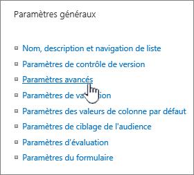 Cliquez sur Paramètres avancés à partir de la fenêtre Paramètres