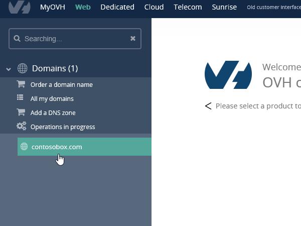 Sélectionnez OVH la domain_C3_201769175443