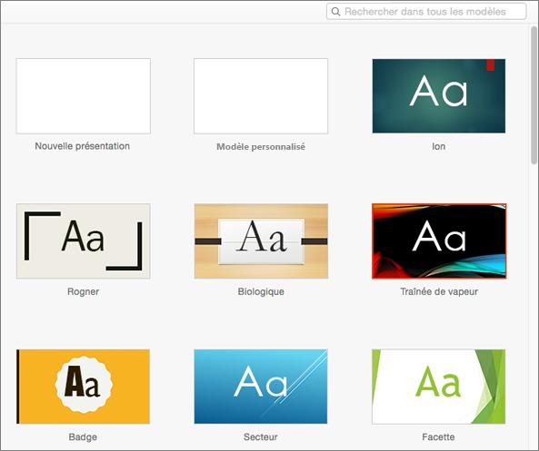 Favorit Utiliser des modèles dans PowerPoint 2016 pour Mac - PowerPoint  MI69