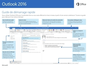 Guide de démarrage rapide d'Outlook 2016 (Windows)